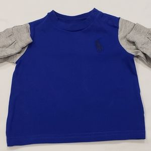 Baby polo long sleeve shirt